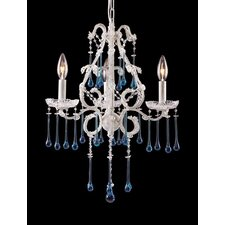 Opulence 3 Light Mini Candle Chandelier