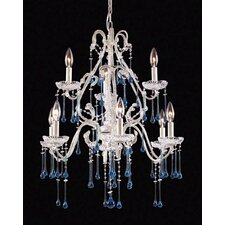 Opulence 9 Light Candle Chandelier