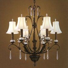 Emilion Chandelier in Burnt Bronze with Optional Shade