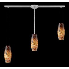 Vortex 3 Light Linear Pendant