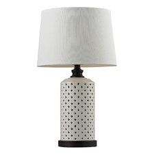 "Open Work Ceramic 23"" H Table Lamp with Empire Shade"