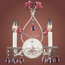 Mary-Kate and Ashley Rosavita 2 Light Wall Sconce