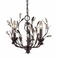 Circeo 3 Light Mini Candle Chandelier