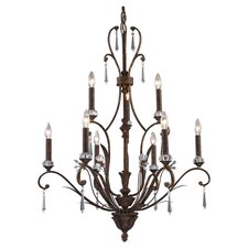 Emilion 9 Light Candle Chandelier