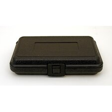 Blow Molded Case without Handle in Black: 5 x 8 x 1.75