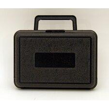Blow Molded Case in Black: 6 x 8.5 x 3