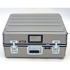 Heavy-Duty ATA Case with Wheels and Telescoping Handle in Gray: 23 x 25 x 10