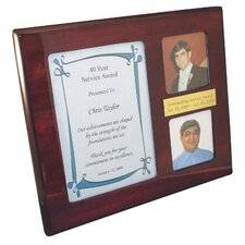"""Recognition"" Award Plaque with Photo Frame"