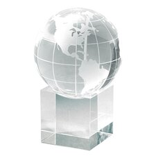 """Petite Cube"" Globe and Base Award"