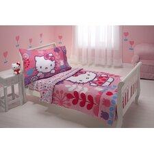 Modern Garden 4 Piece Toddler Bedding Set
