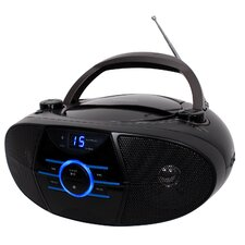 Portable CD Player with AM/FM Stereo Radio and Bluetooth