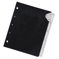 "Slip-Lock Insert Index,Expo.1-1/4"",1/6 Tab Cut,6/ST,Black"