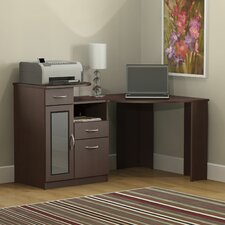 Vantage Corner Computer Desk in Harvest Cherry