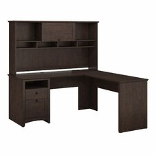 Buena Vista L-Desk with Hutch