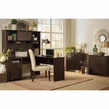 Buena Vista L Executive Desk with Hutch, Lateral File and Low Storage Cabinet