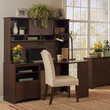 Buena Vista Corner Executive Desk with Hutch and Lateral File