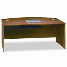 <strong>Bush Industries</strong> Quantum Series Bow Front Desk Shell, 71-3/8w x 35-1/2d x 30h, Modern Cherry