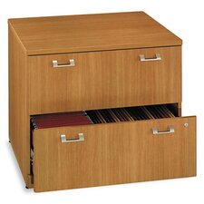 Quantum Series 2-Drawer Lateral File, 35-3/4w x23-1/2d x 30h, Modern CY