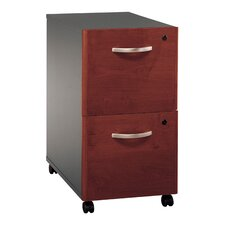 <strong>Bush Industries</strong> Series C Two Drawer Mobile Vertical Filing Cabinet