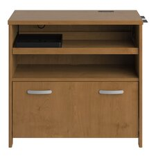 <strong>Bush Industries</strong> Envoy Tech Lateral File Cabinet in Natural Cherry