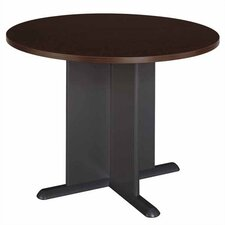 Mocha Cherry Round Conference Table