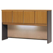 "Expandable 4.5"" H x 27.5"" W Desk Hutch"