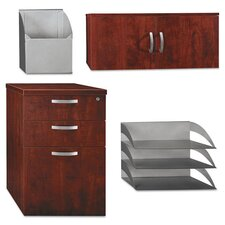 4-Piece Storage/Accessory Kit, 16w x 20d x 25-5/8h, Hansen Cherry