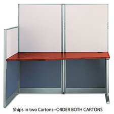 Office-in-an-Hour Str Workstation Desk 64-1/2w x 32-1/4d x 63h, CY, Box 2/2