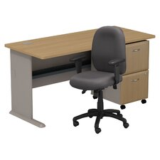 Series A Desk with 2 Drawer File and Chair