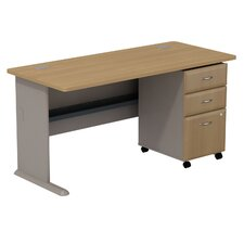 <strong>Bush Industries</strong> Series A Desk with 3 Drawer File
