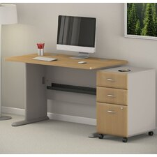 Series A Desk with 3 Drawer File