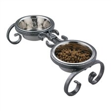Mini Classic Wrought Iron Dog Feeder