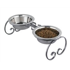 Medium Classic Wrought Iron Dog Feeder