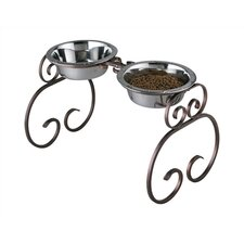 Extra-Tall Classic Wrought Iron Dog Feeder