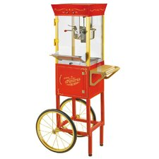 "<strong>Nostalgia Electrics</strong> Vintage 53"" Circus Cart Popcorn Maker in Red"