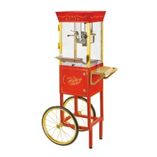"Vintage 53"" Circus Cart Popcorn Maker in Red"
