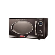 Retro Series 0.9 CF Microwave Oven in Black