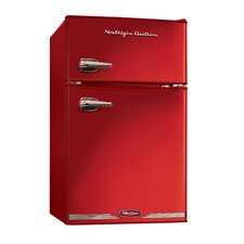 Retro Series 3.1 Cu. Ft. Compact Refrigerator Freezer