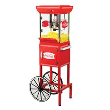 <strong>Nostalgia Electrics</strong> 2.5 oz Coca-Cola Series Old Fashioned Movie Time Popcorn Cart