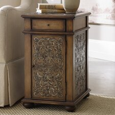 Embossed Design End Table