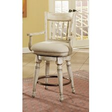 "Summerglen 42.75"" Swivel Counter Stool with Cushion"