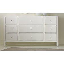 Melange Quatrefoil 9 Drawer Dresser
