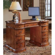 "Belle Grove 48"" W Bow Front Knee Hole Computer Desk"