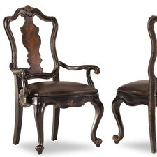 Grandover Splatback Leather Arm Chair