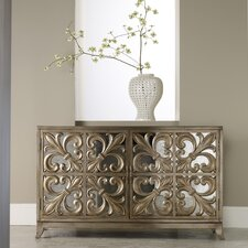 <strong>Hooker Furniture</strong> Melange Fleur-de-lis Mirrored Credenza