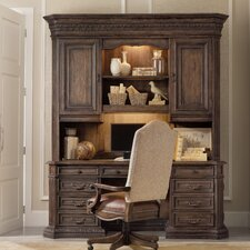 Rhapsody Computer Credenza Desk with Optional Hutch