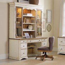 "Chic Coterie 66"" Credenza Desk with Hutch"