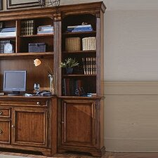 "Brookhaven 78"" H Right Bookcase in Medium Clear Cherry"