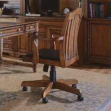 <strong>Hooker Furniture</strong> Brookhaven Tilt Swivel Chair in Medium Clear Cherry