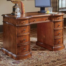 Belle Grove Executive Desk with Bow Front